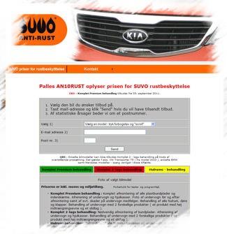Priser for SUVO rustbeskyttelse og undervognsbehandling